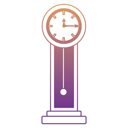 Antique clock icon over white background, colorful design. vector illustration.
