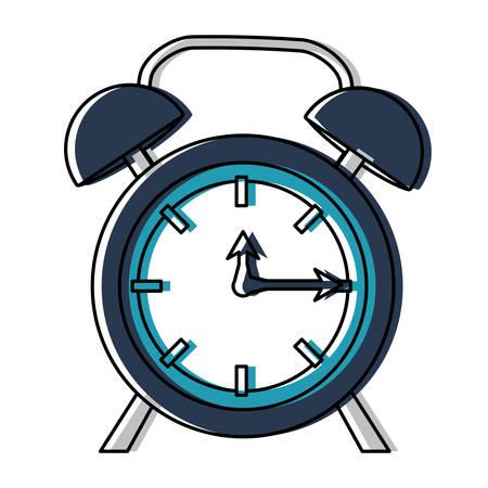 Alarm clock icon over white background, colorful design, vector illustration