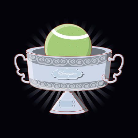 tennis sport champion trophy vector illustration design Illustration
