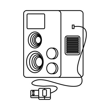 videogame console icon over white background, vector illustration