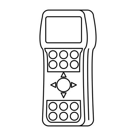 Tv remote control icon over white background, vector illustration