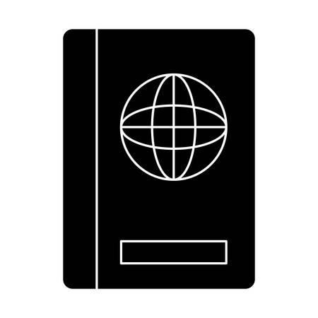passport icon over white background, vector illustration