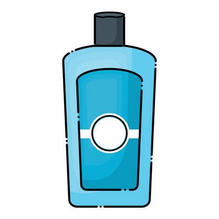 Sunblock bottle icon over white background, colorful design. vector illustration
