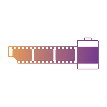 old film roll icon over white background, vector illustration