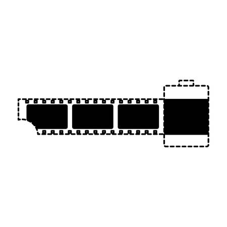 old film roll icon over white background, vector illustration Standard-Bild - 98751774