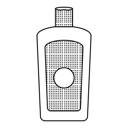 sketch of Sunblock bottle icon over white background, vector illustration