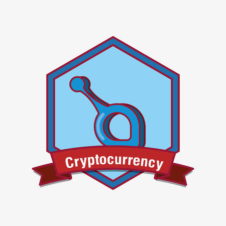 emblem of cryptocurrency with sia symbol over white background, colorful design. vector illustration