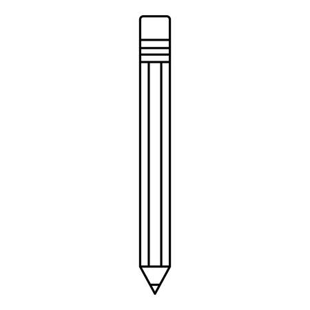 Pencil utensil icon over white background
