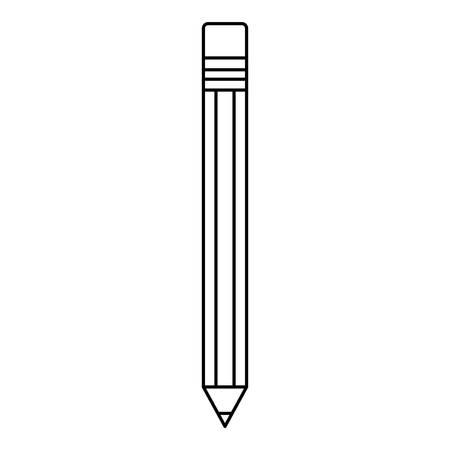 Pencil utensil icon over white background