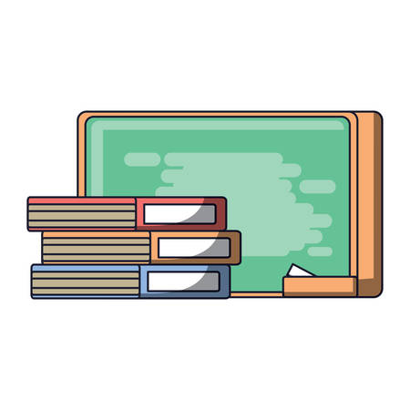 books and school chalkboard icon over white background, colorful design. vector illustration 矢量图像