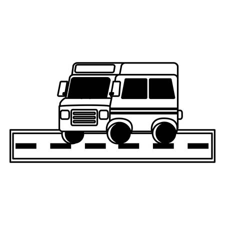 school bus icon over white background, vector illustration