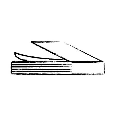 sketch of academic book icon over white background, vector illustration