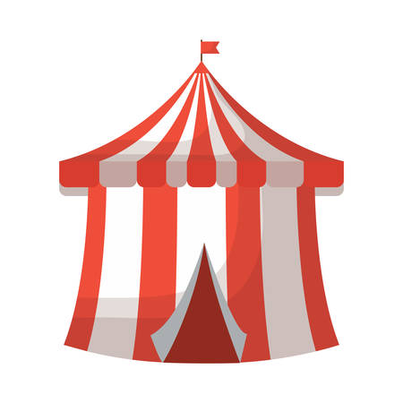 Circus tent icon over white background, colorful design. Vector illustration