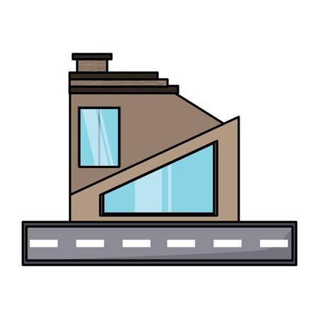 Modern house icon Stock Illustratie