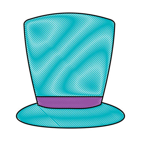 Top hat icon over white background, colorful design. Vector illustration.