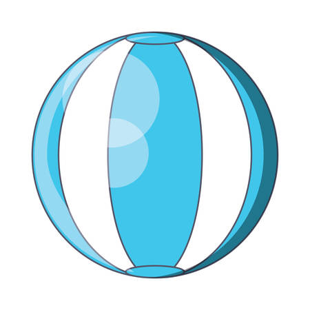 Pool ball icon over white background, colorful design. Illusztráció