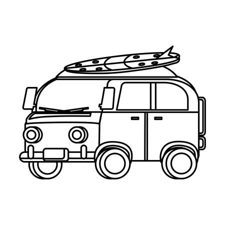 surf van icon over white background, vector illustration