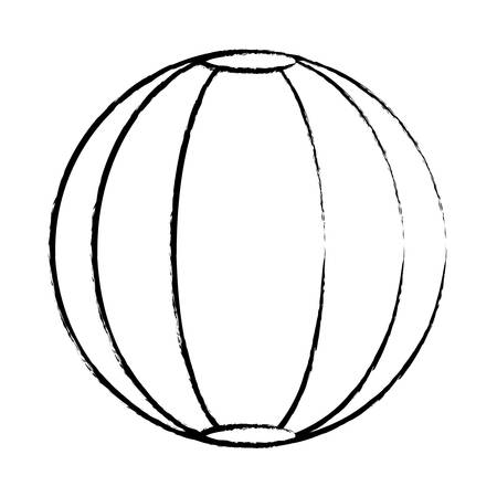 sketch of pool ball icon over white background, vector illustration