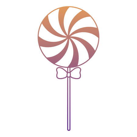 candy lollipop over white background, colorful design.  vector illustration