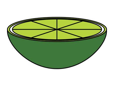 Lemon slice icon over white background, colorful design. Vector illustration Vettoriali