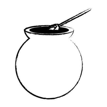 Café mexicano cafe de olla icono sobre fondo blanco, ilustración vectorial