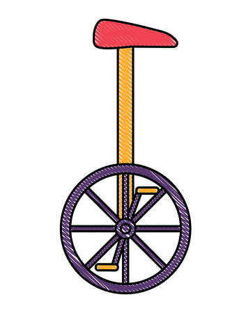 monocycle icon over white background, colorful design. vector illustration  イラスト・ベクター素材