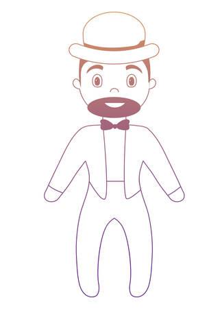 cartoon Circus Ringmaster icon over white background, colorful design. vector illustration Illustration