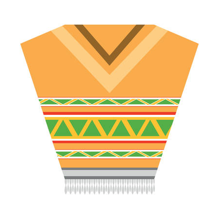 Mexican poncho icon over white background, colorful design. Vector illustration