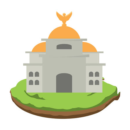 Mexico Palace of Fine Arts  icon over white background, colorful design. vector illustration Ilustração