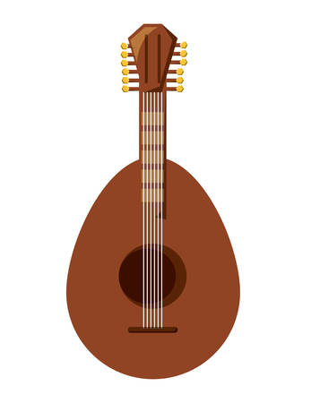 Mandolin instrument icon over white background. Vector illustration Illustration