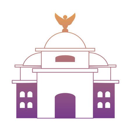 Mexico Paleis voor Schone Kunsten pictogram op witte achtergrond, kleurrijk ontwerp. vector illustratie Vector Illustratie