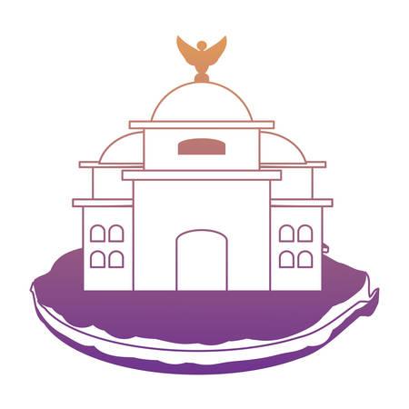 Mexico Palace of Fine Arts icon over white background, gradient design. Banco de Imagens - 99705432