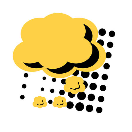 speech cloud icon over white background, pop art style. vector illustration