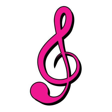 musical note symbol over white background, vector illustration