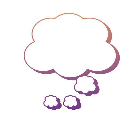 Sprachwolkenikone über weißem Hintergrund, buntes Design. Vektorillustration