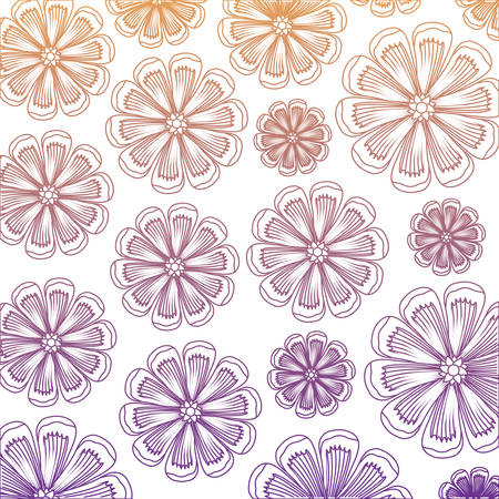 background of beautiful flowers, colorful design.  vector illustration Illustration