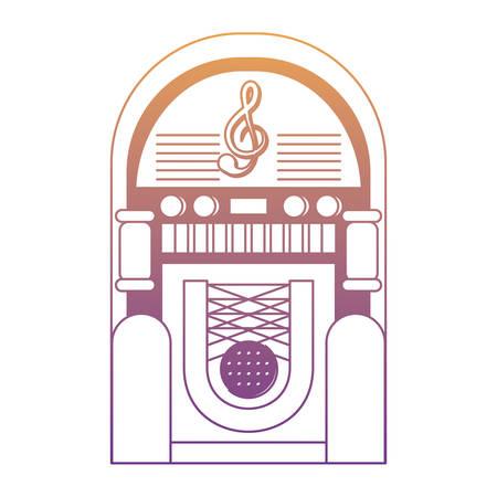 retro rockola icon over white background, colorful design. vector illustration