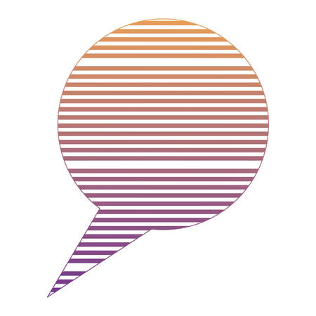 striped speech bubble icon over white background, vector illustration
