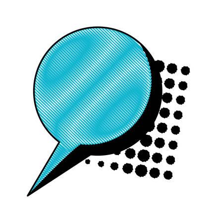 speech bubble icon over white background, pop art style, vector illustration
