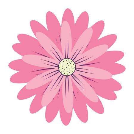 flower icon over white background, colorful design. vector illustration Illustration