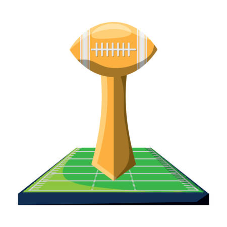 Football trophy icon Illustration