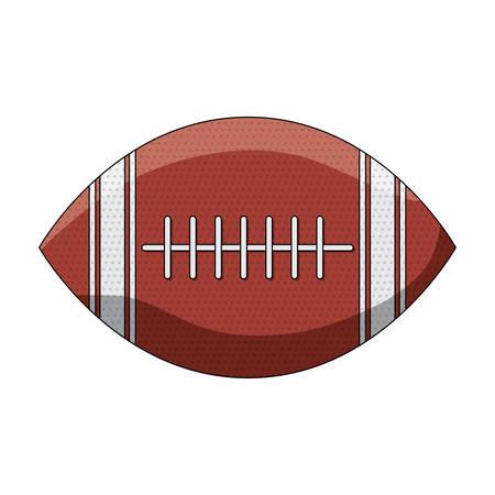 american football ball icon over white background, colorful design. vector illustration Vettoriali