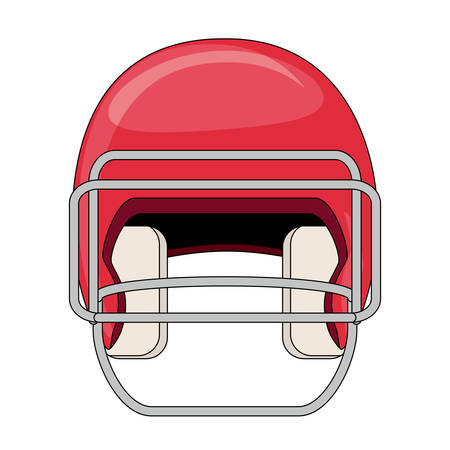 american football helmet icon over white background, colorful design. vector illustration Vettoriali
