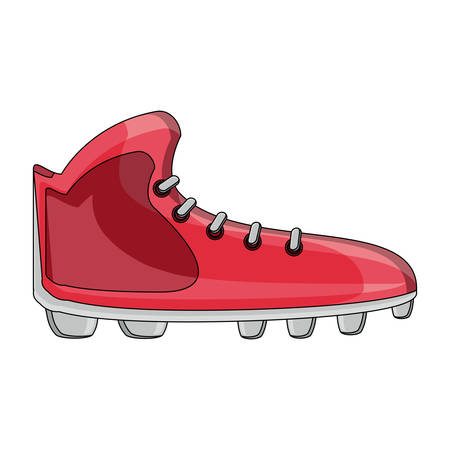 american football cleats icon over white background, colorful design. vector illustration