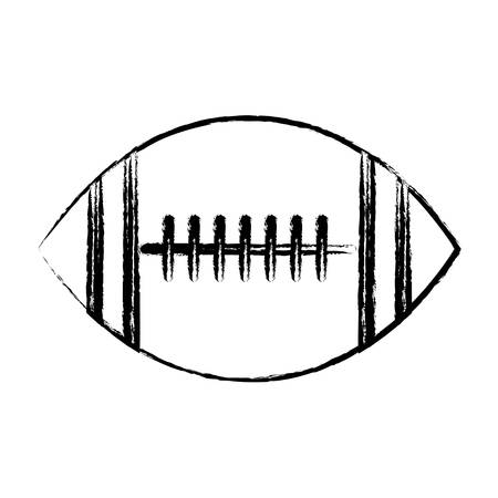 american football ball icon over white background, vector illustration