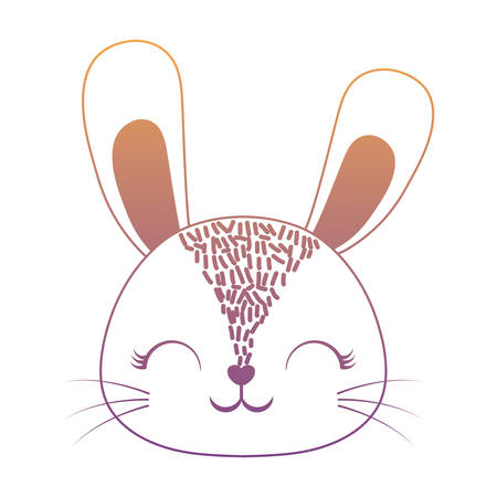 Cute rabbit icon over white background, colorful design. vector illustration 일러스트