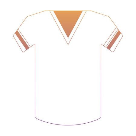 american football jersey icon over white background, colorful design. vector illustration
