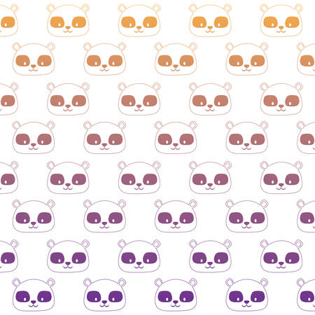 Colorful background of cute raccoons design. Vector illustration