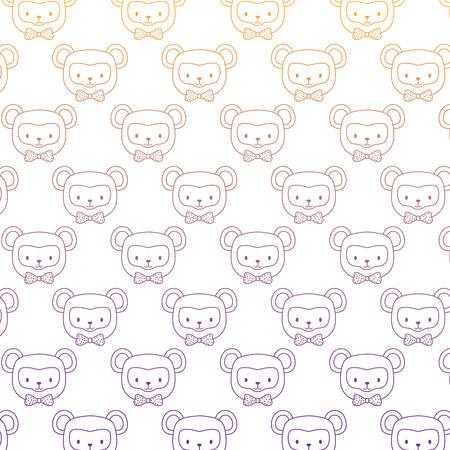 Cute monkeys pattern design