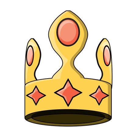 king crown icon over white background, colorful design. vector illustration